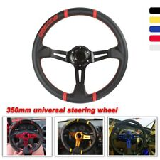 Universal 350Mm leather steering wheel Pvc Racing sports Auto parts modification