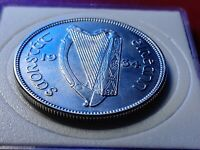 About Uncirculated 1934 Ireland 1/2 Half CROWN 2s6d 1/2 Coiron 2s6d w Holder