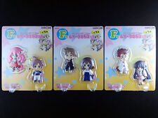 Baka and Test to Shokanju Figure Relief Magnet Complete set of 3 Taito Kuji New
