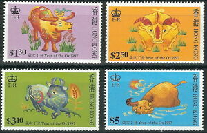 Hong Kong - Jahr des Ochsen Satz postfrisch 1997 Mi. 785-788