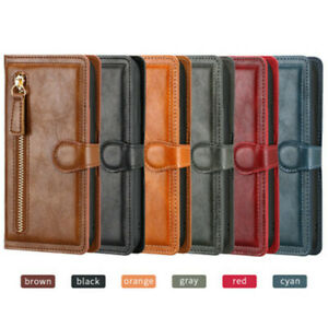 Zip Coin Purse Card Flip Leather Wallet Phone Case Cover For iPhone 13 12 11 7 8