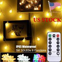LED Christmas String Light LED Ball Lamp Remote Control Globe Home Decoration