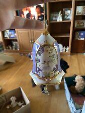 Bradford Edition Heirloom Porcelain Collectible Ornament Hummingbird Bell