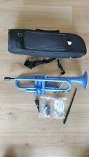 Tromba Trompete blau Kunststoff Messingventile, Jazztrompete Plastik