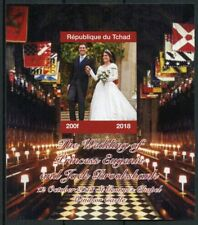 Chad 2018 MNH Princess Eugenie Jack Royal Wedding 1v IMPF M/S I Royalty Stamps