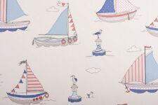 Fryett's Regatta Blue Fabric Remnant 100% Cotton 50cm x 40cm