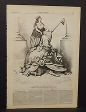 "Harper's Weekly 1 Pg ""Victory Sits on Our Helm""  1873 B14#52"