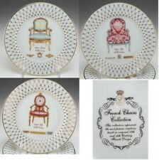 "French Chairs Collection Dinner plates By EMAIL DE LIMOGE 7 10"" PERFECT CONDITN"