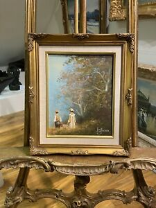 ORIGINAL OIL PAINTING SIGNED LES PARSONS IN GOLD GILT FRAME 21st CENTURY
