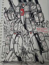 Alex Milne Original Artwork 2008 SIGNED Transformers Comic Book Artist A2b55