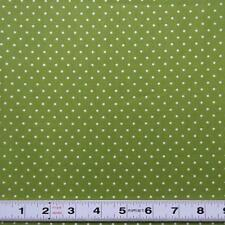 Lot A440 - WHITE DOTS ON GREEN by Cottage Pin - Patchwork Fabric by the ½ metre