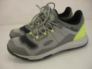 Women's 10 Keen Dry Tempo Flex Waterproof Hiking Shoes Drizzle Gray Sharp Green