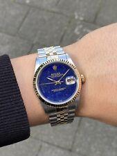 Rolex Datejust 36 Gold/Steel Lapis Lazuli Dial Ref.16233 BOX + PAPERS
