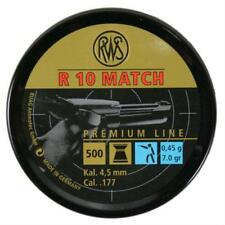 RWS R10 Match .177 Air Pistol Pellets 4.50 Air Pistol Ammunition Full Tins 500