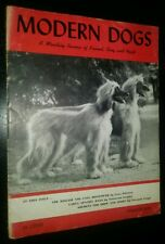 Modern Dogs Volume 1 Number 1 January 1945 Afghan Hound Cover & Article Spaniels