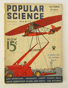 Popular Science Monthly - Oct 1933 - Fabulous cover by Wittmack - good cond.