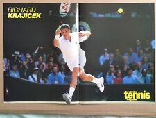 RICHARD KRAJICEK Original Vintage Australian Tennis Magazine Poster