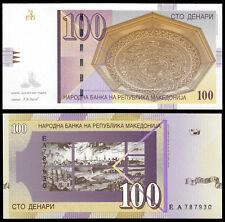MACEDONIA 100 DENARI (P16g) 2007 UNC