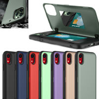 For iPhone 11 Pro Max XR XS 6s 7 8 Plus Hybrid Armor Wallet Card Holder TPU Case
