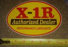 X-1R authorized dealer Lubricants Sticker Decal Drag Race Car Hot Rod Toolbox