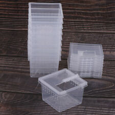 10x Feeding Box Reptile Cage Hatching Container Rearing Tank for Lizard