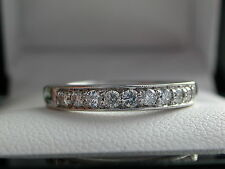 0.27ct Diamond Eternity Ring + RRP £1595 + Safeguard Report + 18ct White Gold