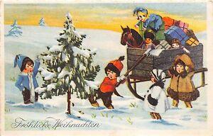 BG8434 children sledge fir toys  weihnachten christmas greetings germany
