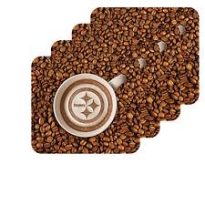 NEW PITTSBURGH STEELERS LATTEAM COFFEE ART 4pk COASTER SET PACKAGED
