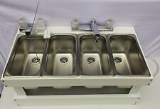 portable sink mobile concession 3 compartment with hand wash sink smw - Three Compartment Kitchen Sink