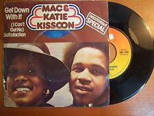 DISCO 45 GIRI VINILE MAC E KATIE KISSOON GET DOWN WITH IT CBS 1975 VG-/GD