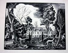 Bois Gravé sur Papier vélin-illustration du Grand Meaulnes Signé Melsonn 2 /40