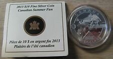 2013 Proof $10 O Canada - Summer Fun .9999 silver COIN&COA ONLY REDUCED!