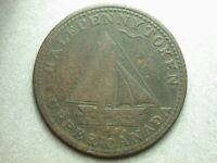 Canada Upper 1820 Commercial Change Ship Half Penny Token