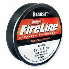 Beadsmith FireLine Beading Thread 4lb, size B, .006, 50yds CRYSTAL colour