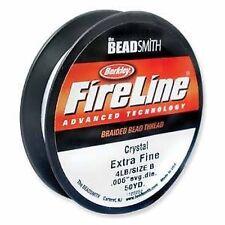 Beadsmith FireLine Beading Thread 4lb, size B, .006, 50yds CRYSTAL colour