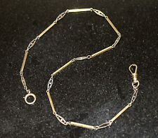 """14KT GOLD VICTORIAN WATCH CHAIN, Circa 1900, HAND CRAFTED, 6.9 Grms, 13"""""""