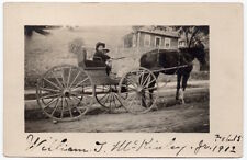1912 RPPC William T. McKinley Jr. Child Driving Horse Pulled Wagon in CA~107090