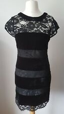 OASIS SEXY VELVET & LACE EVENING PARTY CHRISTMAS DRESS SIZE 10