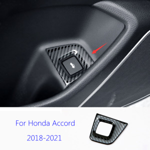 Fit For Honda Accord 2018-2021 Steel Carbon Fiber Rear Trunk Switch Cover Trim
