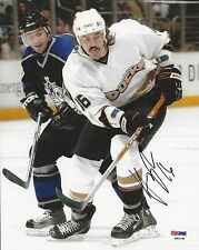 George Parros Anaheim Ducks signed 8x10 PSA/DNA Cert # Q62138