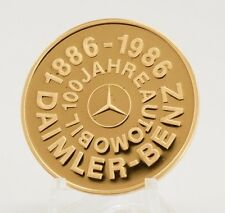 100th Anniversary Daimler-Benz 90% Gold Medal with original presentation box