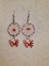 earrings (0817) Red Butterfly Dreamcatcher