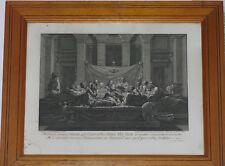 gravure 18ème La Cène Poussin Benoît Audran