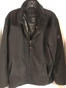 TUMI Men's T-Tech Hooded Softshell hooded  Coat/Jacket Full-Zip Black