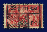 1934 SG451 5s Bright Rose-Red N74 Parcel Post Good Used Cat £85 cjcm