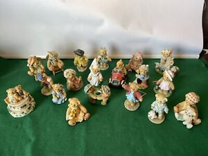 Cherished Teddies Bears Ornaments Bundle Huge Collection Collectable