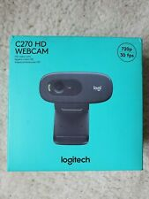 Logitech C270 HD Webcam Black 720p Widescreen *BRAND NEW FAST FREE SHIP*