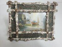 Vintage Log Metal Phot Frame