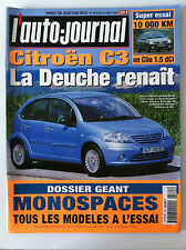 ►L'AUTO-JOURNAL de 8/2001; Essai C3/ Clio 1.5 DCi/ Essai géant Monospaces/ Guide