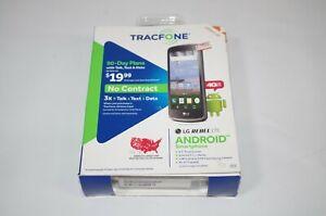 LG Rebel LTE, 8GB, Tracfone Smartphone - Black (L44VL) Unused